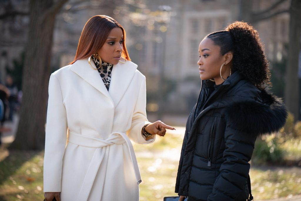 Mary J. Blige and LaToya Tonodeo as Monet and Diana Tejada in 'Power Book II: Ghost'