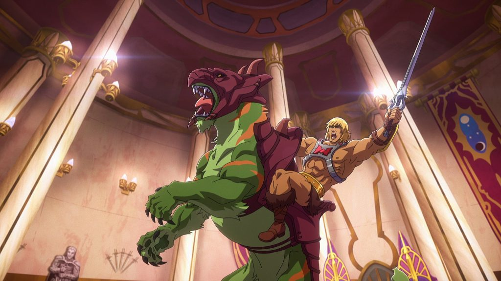 Masters of the Universe: Revelation -- He-Man rides Battle Cat