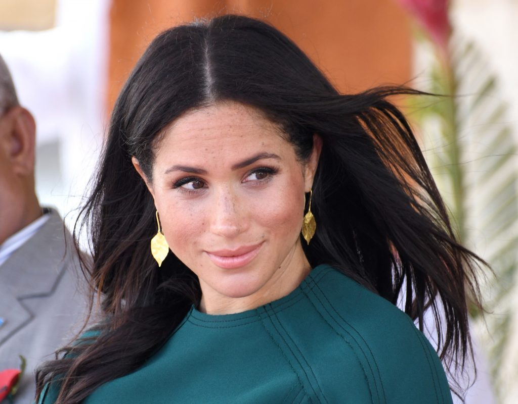 Meghan Markle attends an official welcome ceremony and unveiling of a statue during Fiji trip