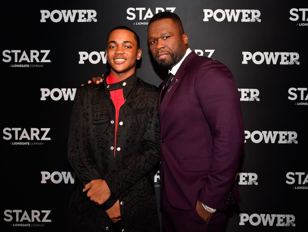 Michael Rainey Jr and 50 Cent on the red carpet