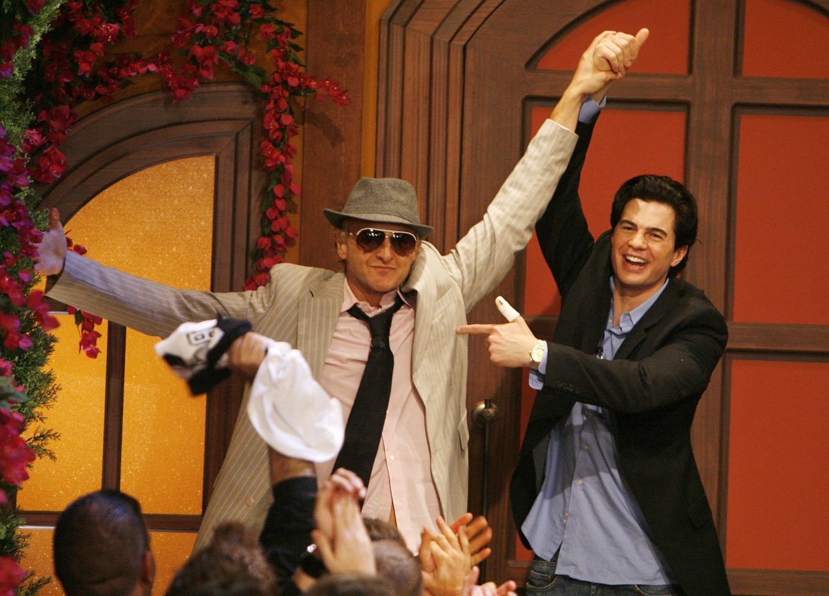 """Mike """"Boogie"""" Malin, 35, (L) with Will Kirby, wins the grand prize at """"Big Brother 7: All-Stars"""""""