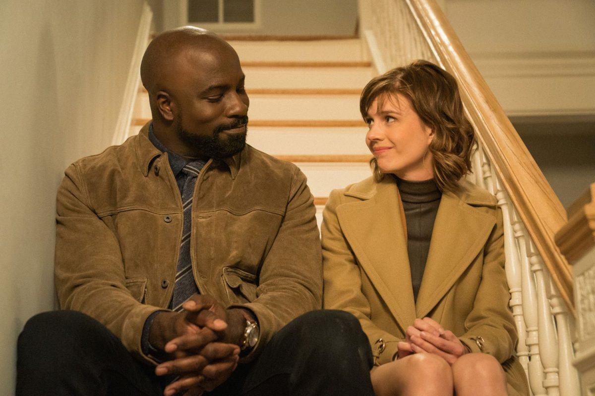 Mike Colter and Katja Herbers in 'Evil'