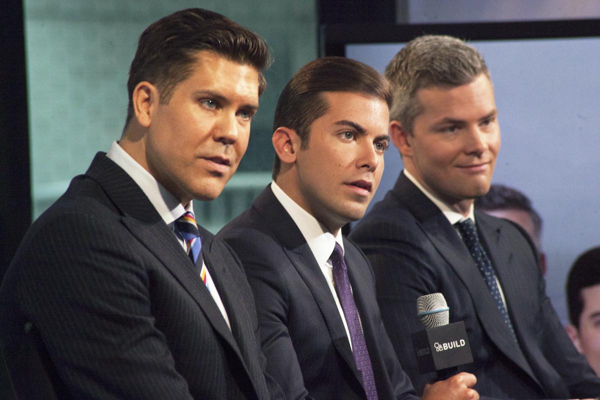 Fredrik Eklund, Luis D. Ortiz and Ryan Serhant of Million Dollar Listing New York at Studio Build in 2016