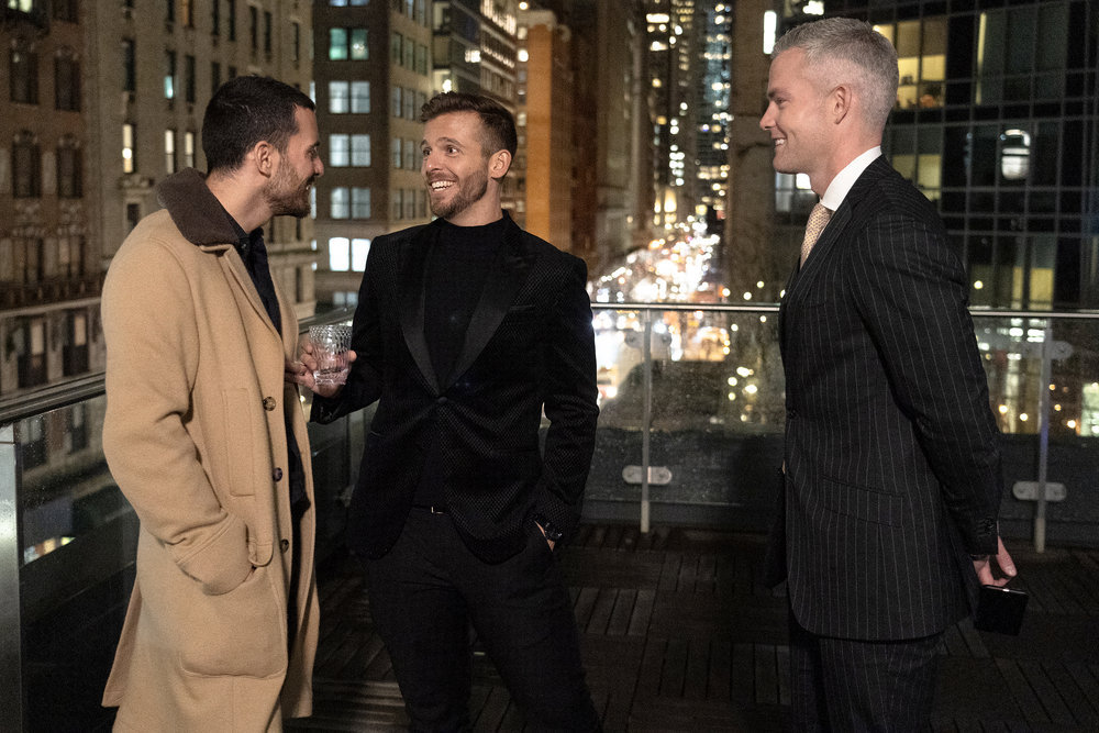 Million Dollar Listing New York: Steve Gold, Tyler Whitman, and Ryan Serhant at a broker's open