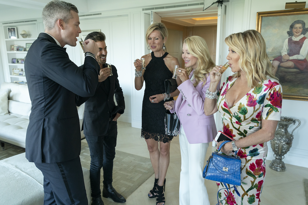 Ryan Serhant, Luis Ortiz from Million Dollar Listing New York hosted Ramona Singer from RHONY at a broker's open