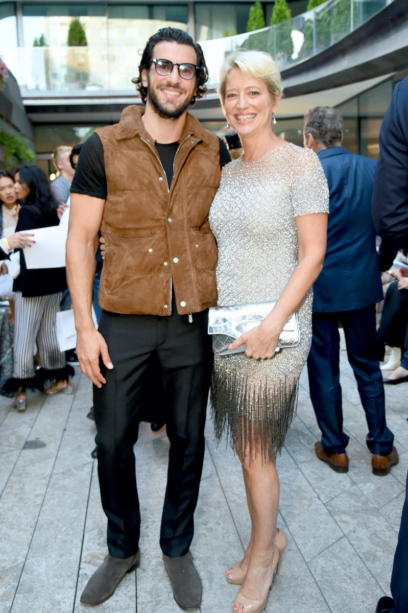 Steve Gold from Million Dollar Listing New York and Dorinda Medley from The Real Housewives of New York City attend New York Fashion Week in 2019