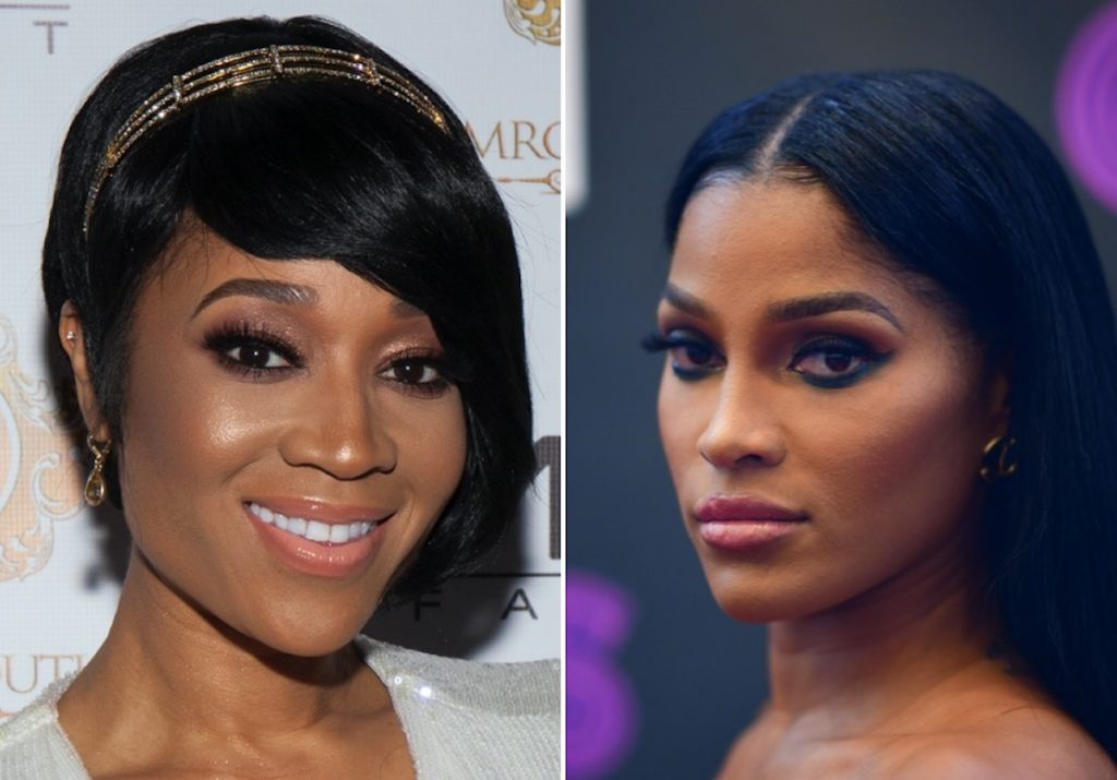 Mimi Faust and Joseline Hernandez posing in two separate photos