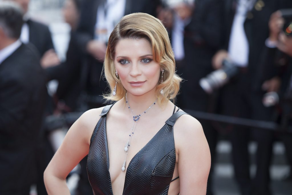 Mischa Barton, known for movies like 'The Sixth Sense', poses for cameras at Cannes in France