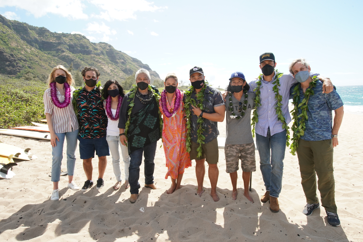 NCIS: HAWAII kicked off its first season production at Mokulia Beach on Oahu with a traditional Hawaiian blessing in honor of its host Hawaiian culture, which was held in line with the series overall filming safety protocols.
