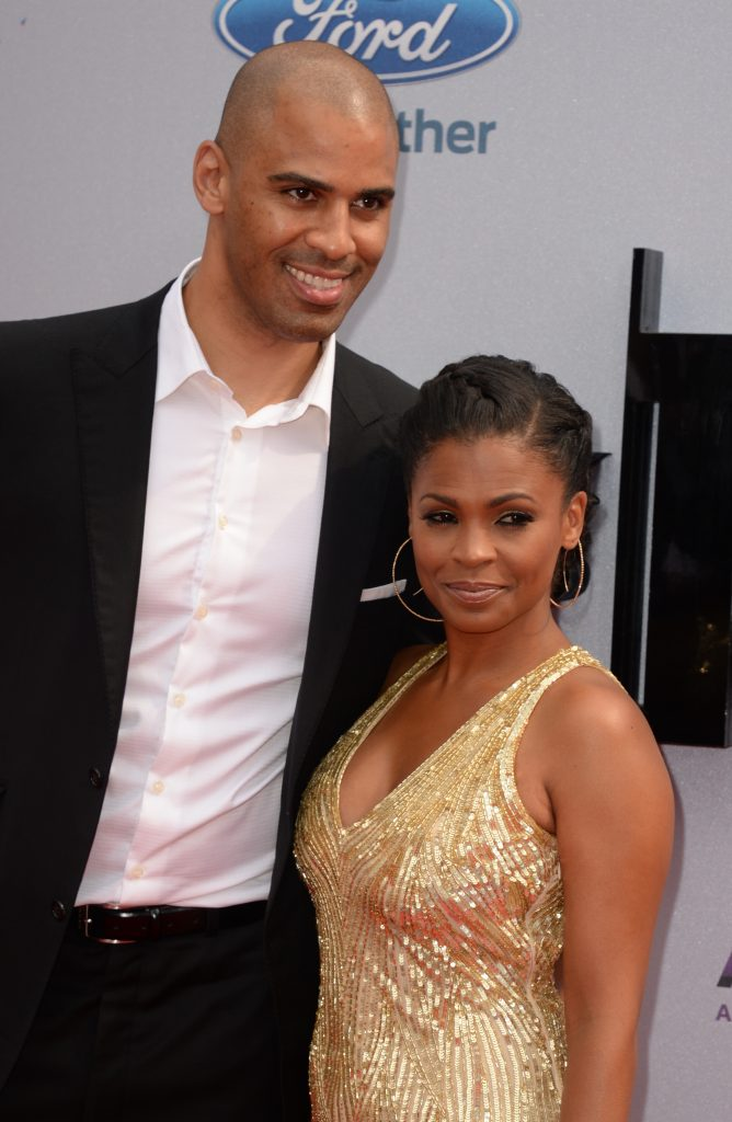 Nia Long smiles for picture with her partner and former basketball player Ime Udoka