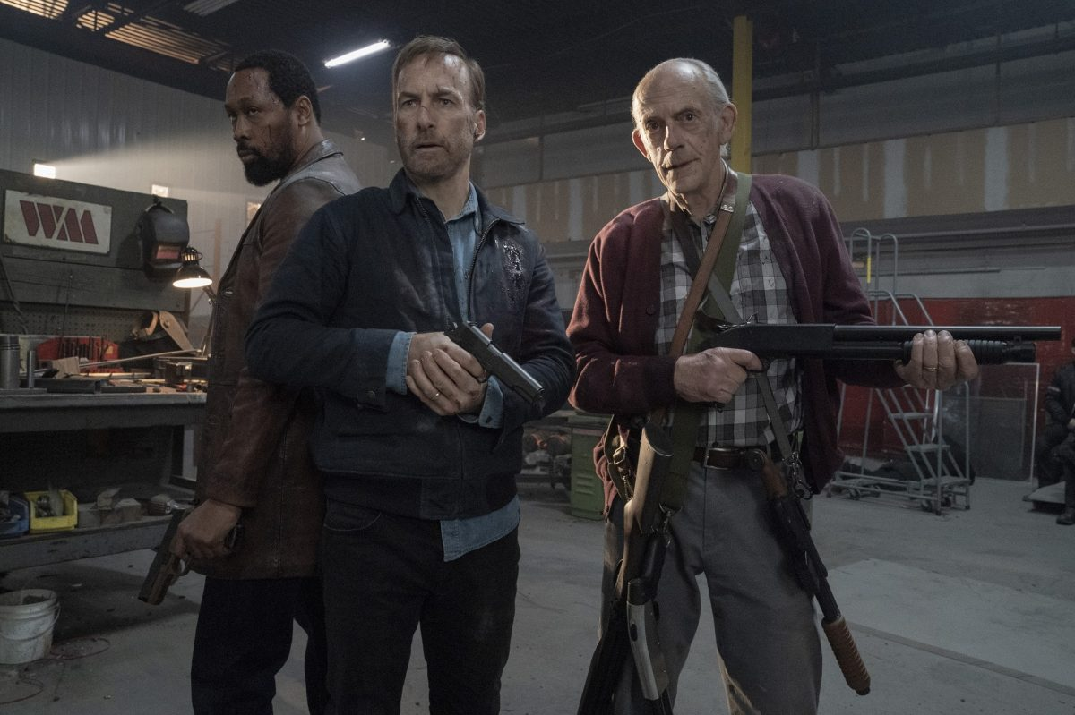Nobody finale trio: RZA, Bob Odenkirk and Christopher Lloyd