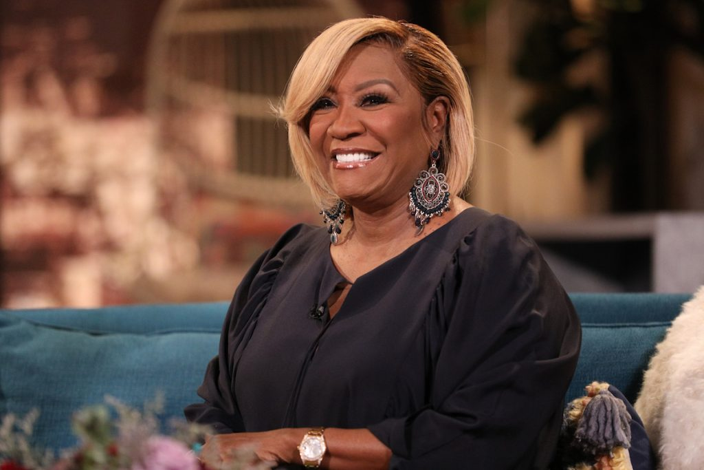 Patti LaBelle on the set of Busy Tonight