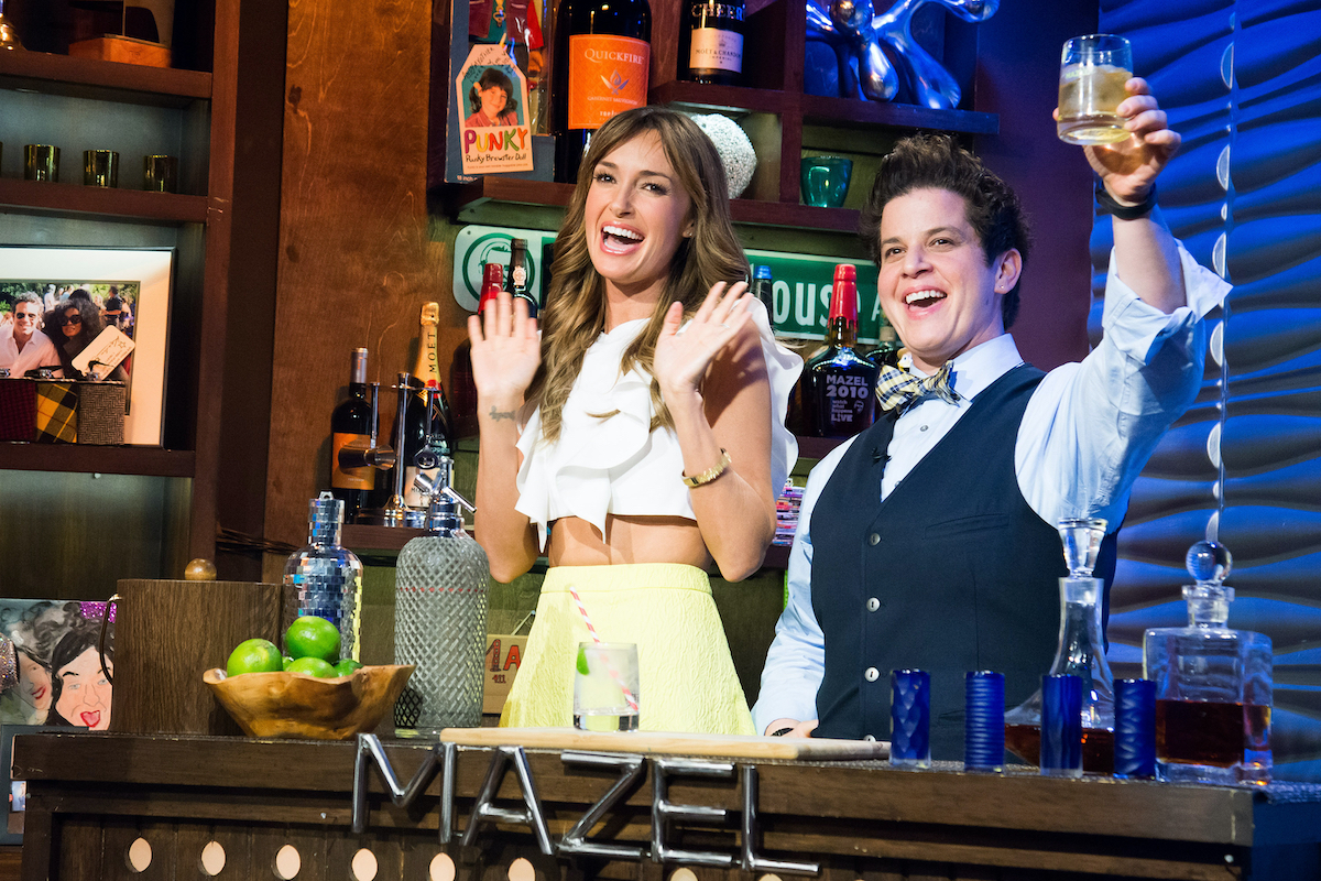 Brandy Howard and Julie Goldman from The People's Couch appear on WWHL