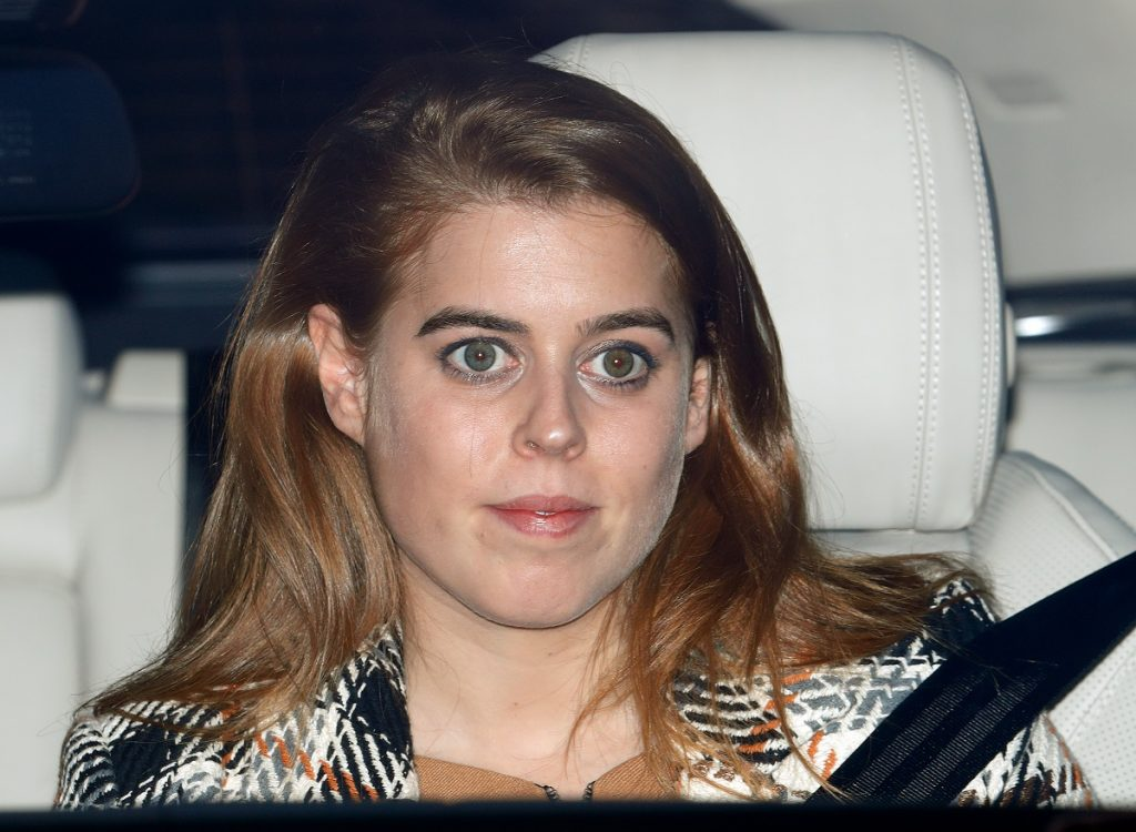 Princess Beatrice attending a Christmas lunch for members of the Royal Family at Buckingham Palace
