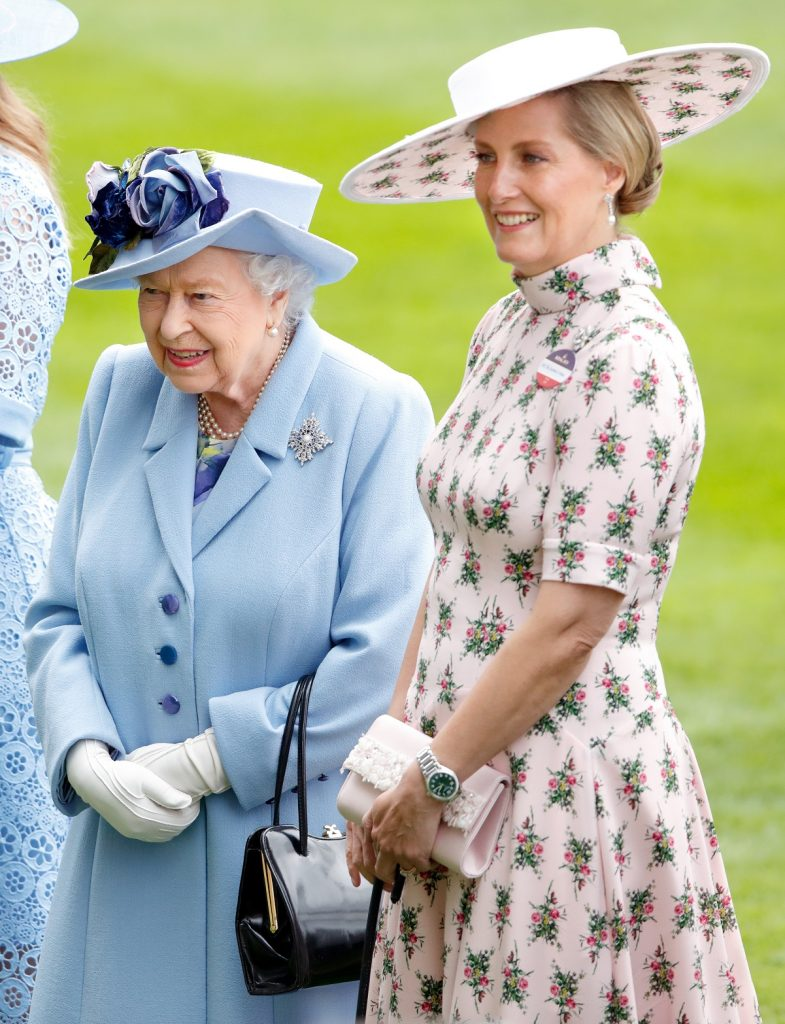 Queen Elizabeth II and Sophie, Countess of Wessex attend day one of Royal Ascot at Ascot Racecourse together