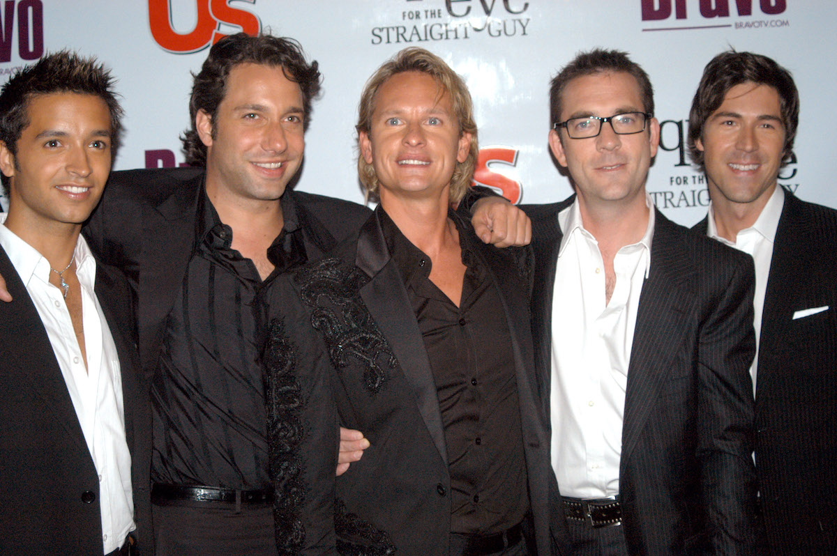 The original Queer Eye for the Straight Guy cast: Jai Rodriguez, Thom Filicia, Carson Kressley, Ted Allen, and Kyan Douglas