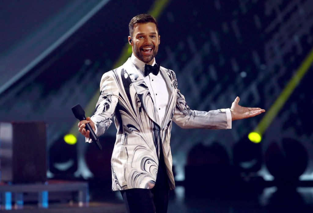 Ricky Martin speaking onstage during the 20th annual Latin GRAMMY Awards