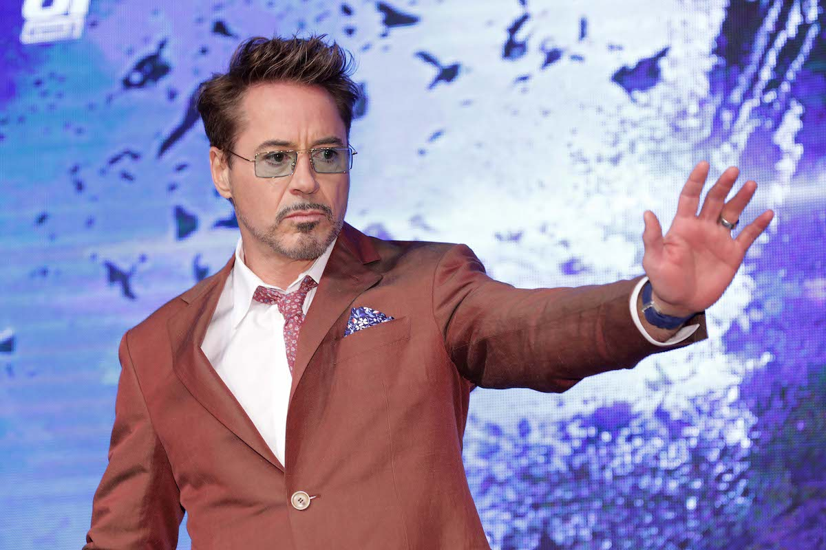 'Avengers: Endgame' star Robert Downey Jr. wears a suit and waves