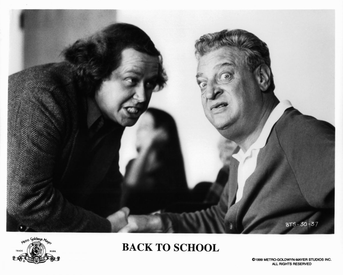 Sam Kinison and Rodney Dangerfield in Back to School