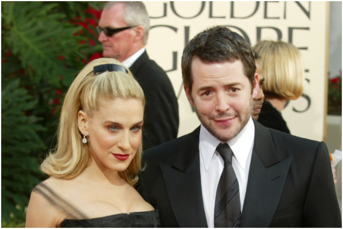 Sarah Jessica Parker and Matthew Broderick posing on the 'Golden Globes' red carpet