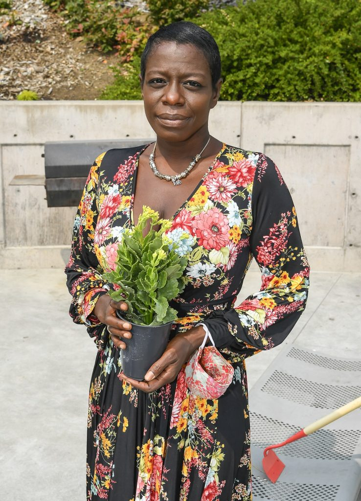 Sekyiwa Shakur attending the Tupac Amaru Shakur Memorial Planting to Commemorate the Anniversary of her brother's death