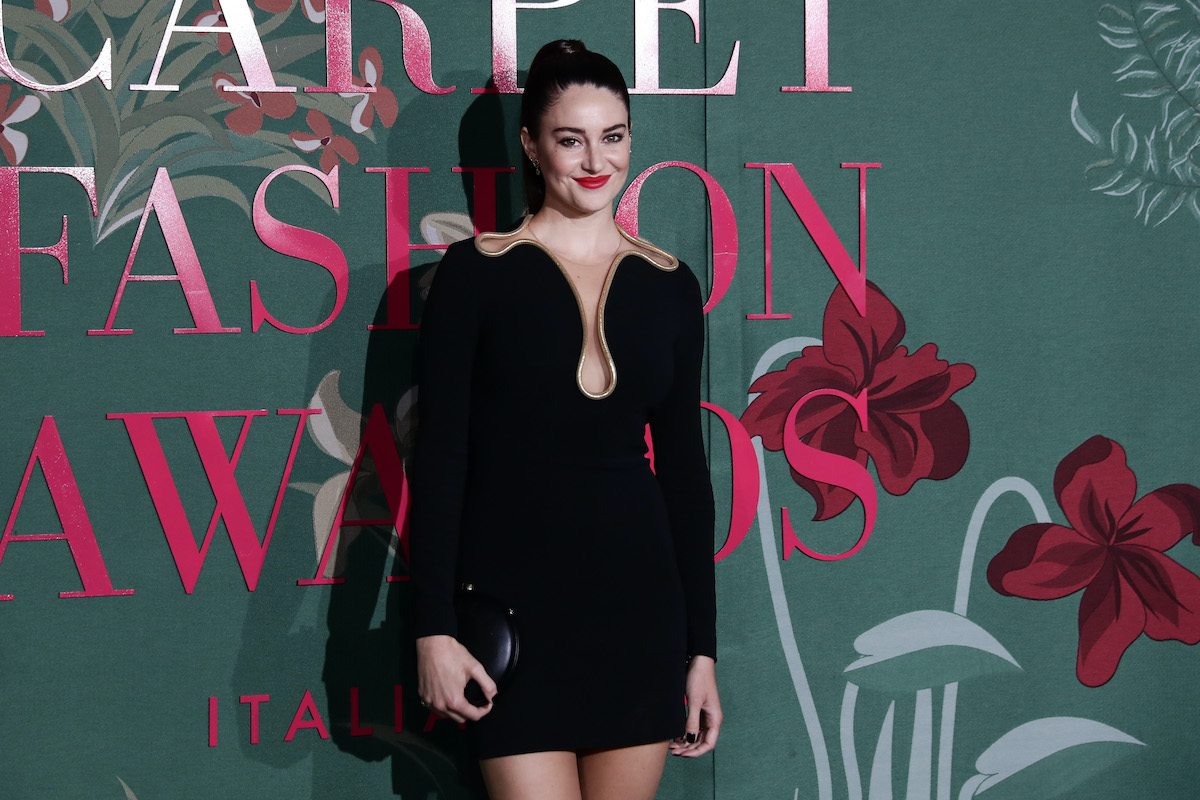 Shailene Woodley wears a sleek black dress on the red carpet