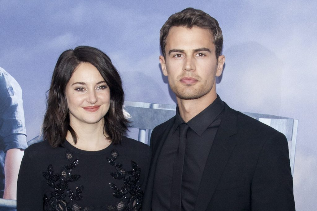 Divergent stars Shailene Woodley and Theo James wear all black to the Allegiant premiere