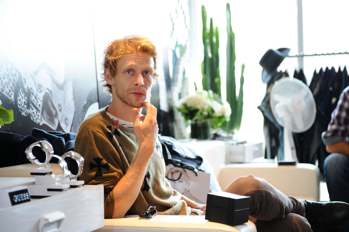'Sons of Anarchy' star Johnny Lewis attends day 5 of the GUESS Portrait Studio at TIFF Bell Lightbox during the 2011 Toronto International Film Festival on September 13, 2011