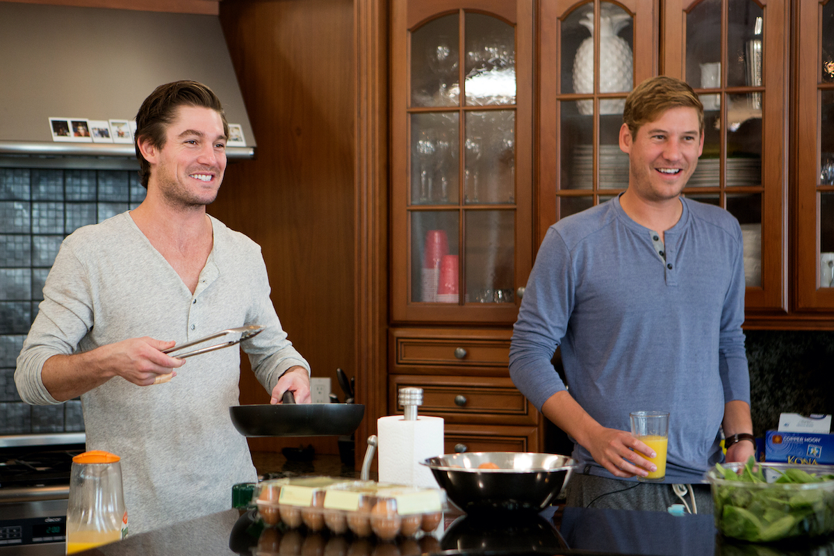 Craig Conover and Austen Kroll cook breakfast in an episode of 'Southern Charm'