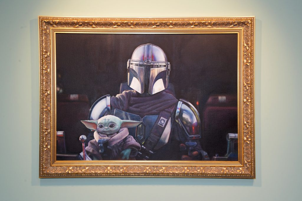 A private view of 'The Mandalorian And The Child,' a special portrait being unveiled in collaboration with the National Portrait Gallery