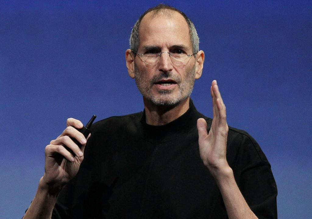 Steve Jobs speaks during an Apple special event April 8, 2010 in Cupertino, California.  Jobs announced the new iPhone OS4 software.