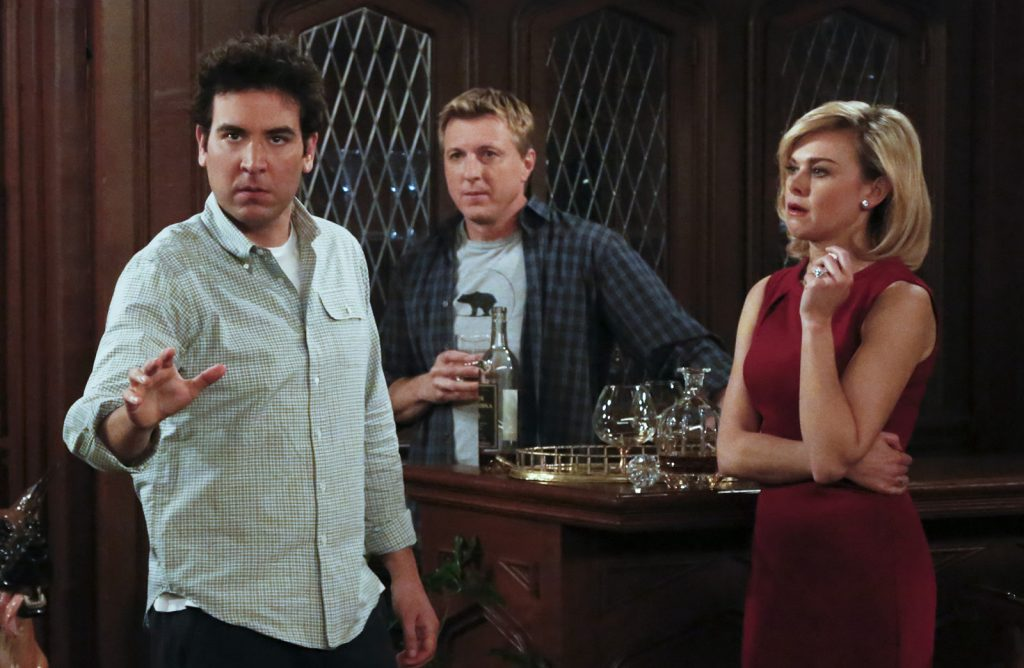 Ted Mosby, The Captain, and Becky on 'How I Met Your Mother'