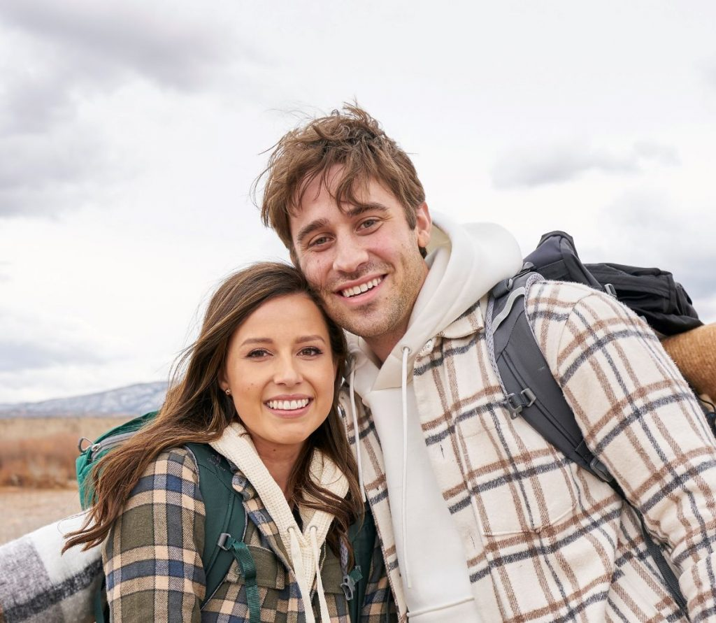 'The Bachelorette' star Katie Thurston in a plaid jacket and contestant Greg Grippo in a plaid jacket and hoodie