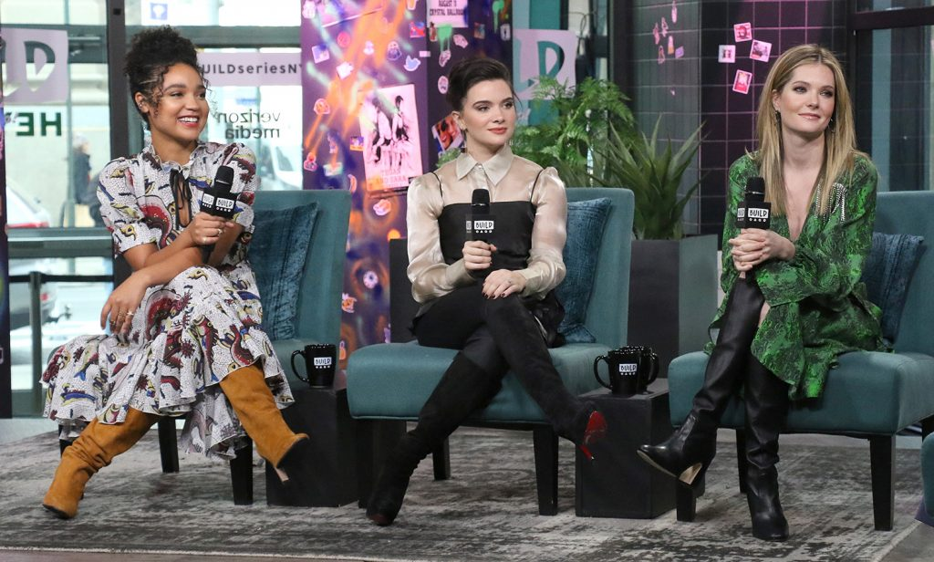 'The Bold Type' stars Aisha Dee, Katie Stevens, and Meghann Fahy at Build Series in January 2020.