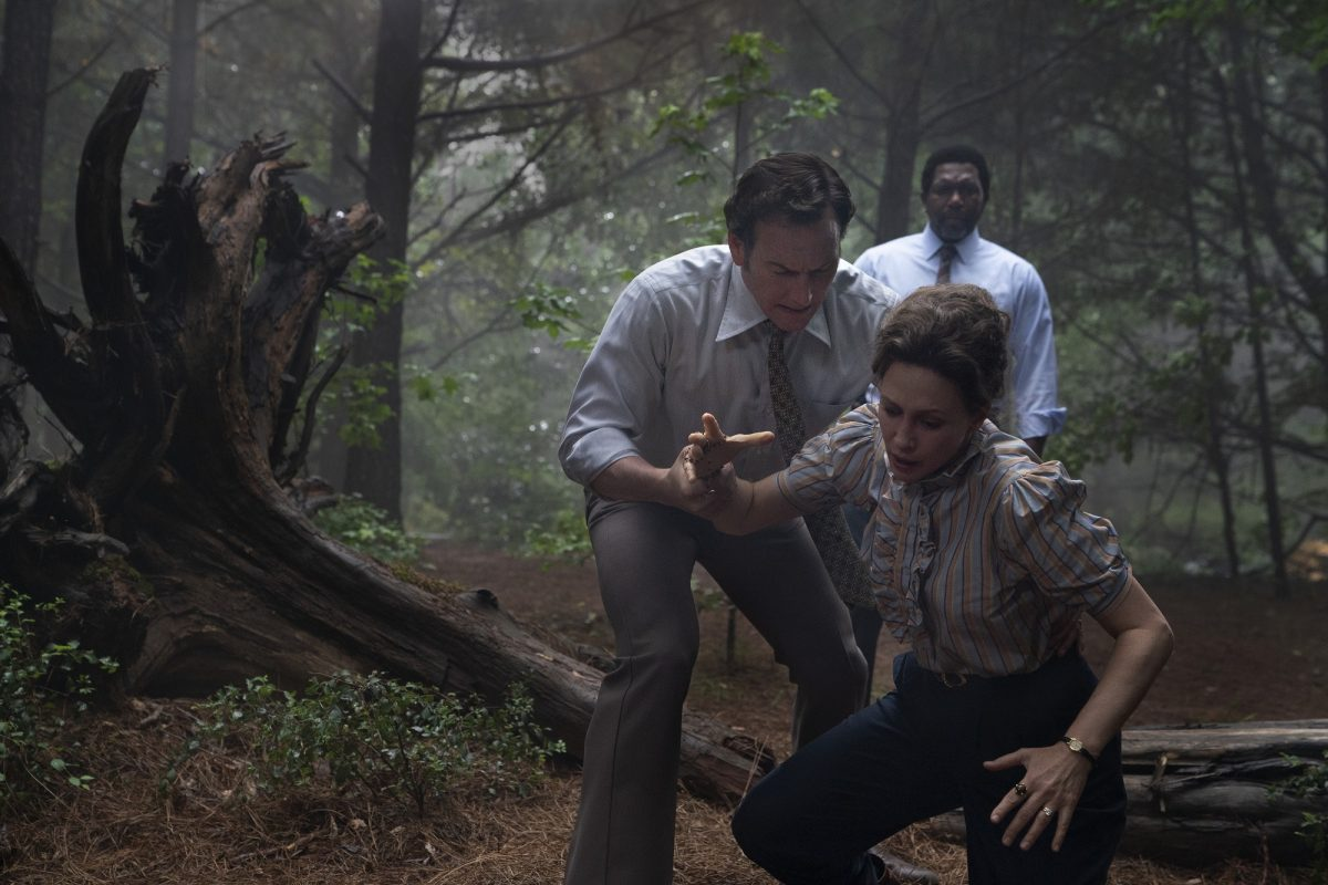 The Conjuring 3 Ed and Lorraine Warren in the woods