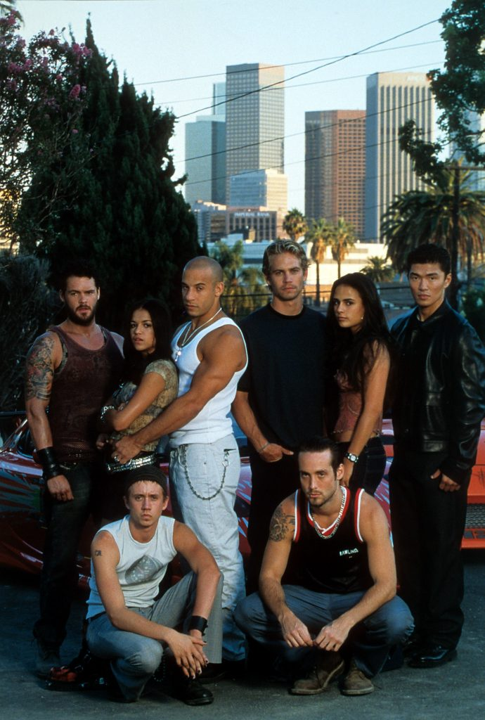 The Fast and the Furious cast pose for a photo