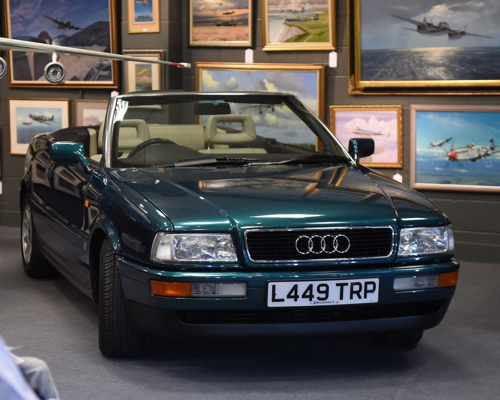 The dark green convertible Audi used by Diana, Princess of Wales