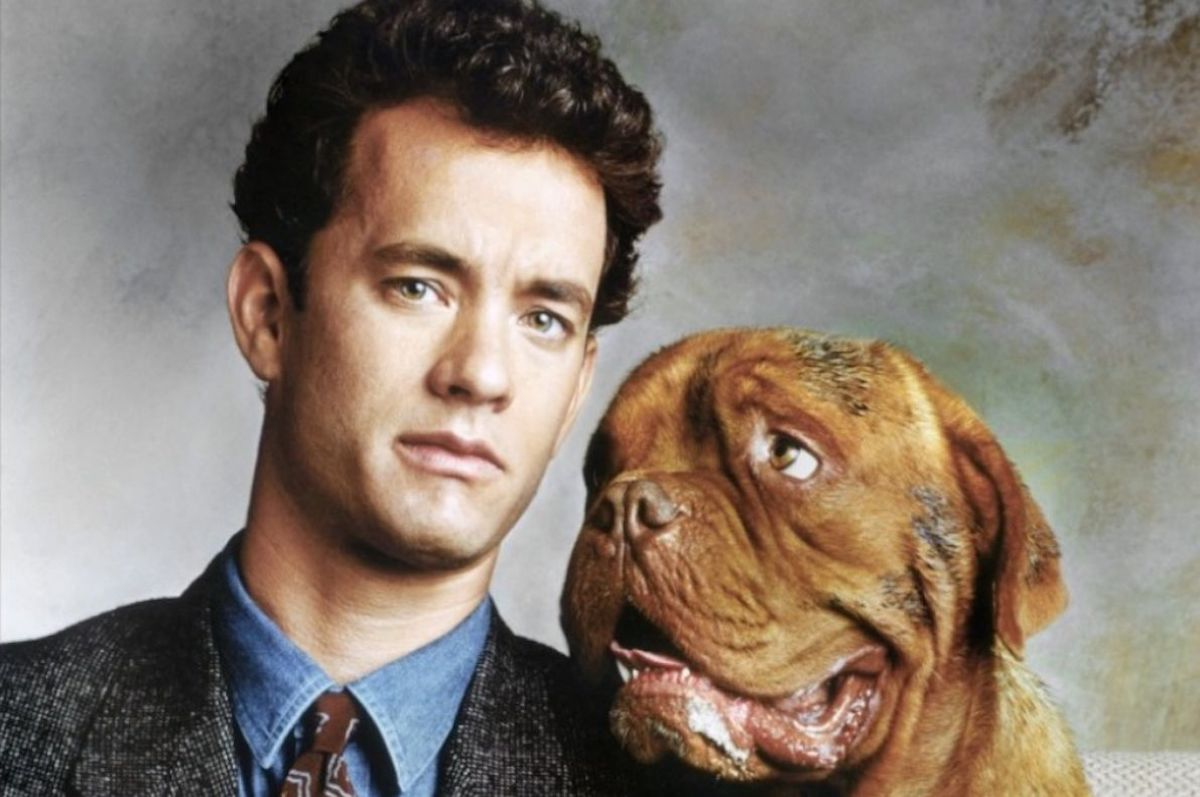 Tom Hanks and Beasley the dog in the 'Turner & Hooch' poster