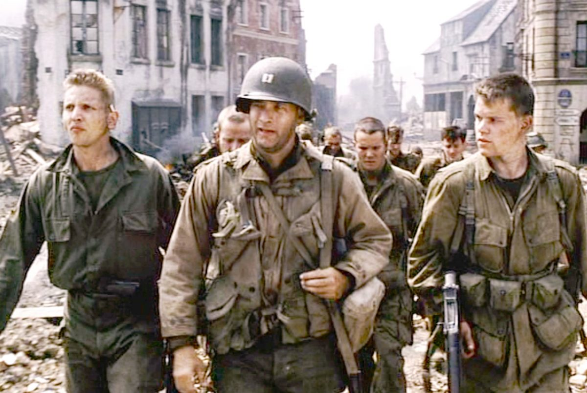 Tom Hanks leads the cast of Saving Private Ryan