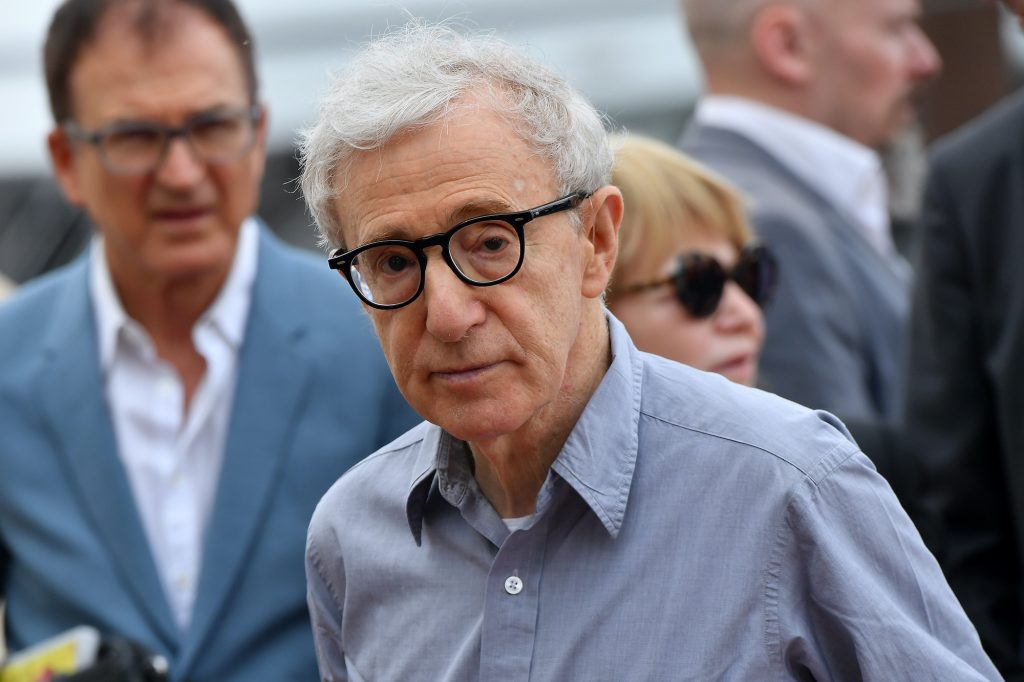 Woody Allen looking at the camera