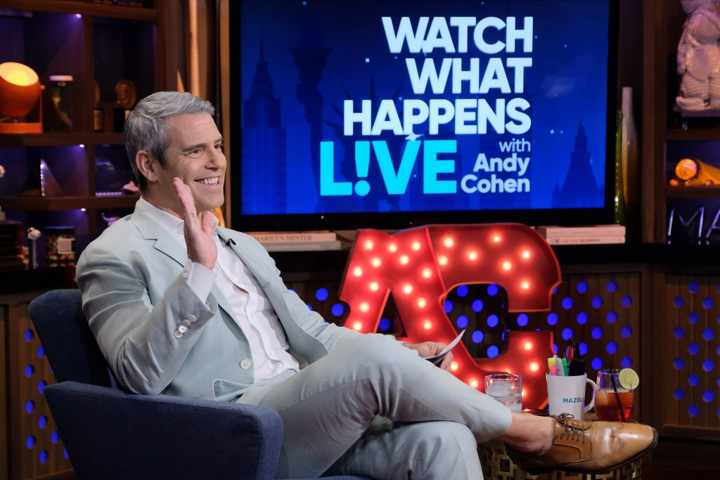 Andy Cohen on the set of 'Watch What Happens Live'