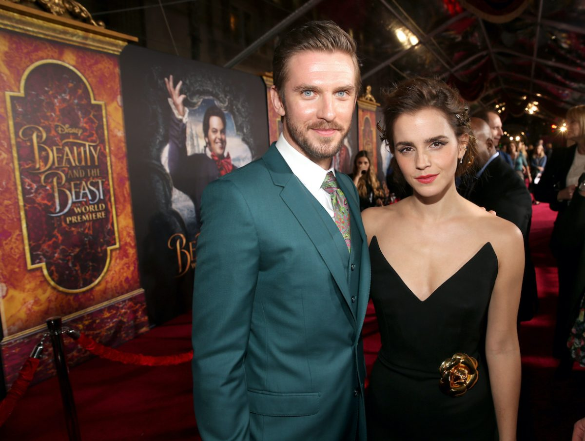 """Dan Stevens and Emma Watson arrive for the world premiere of Disney's live-action """"Beauty and the Beast"""""""