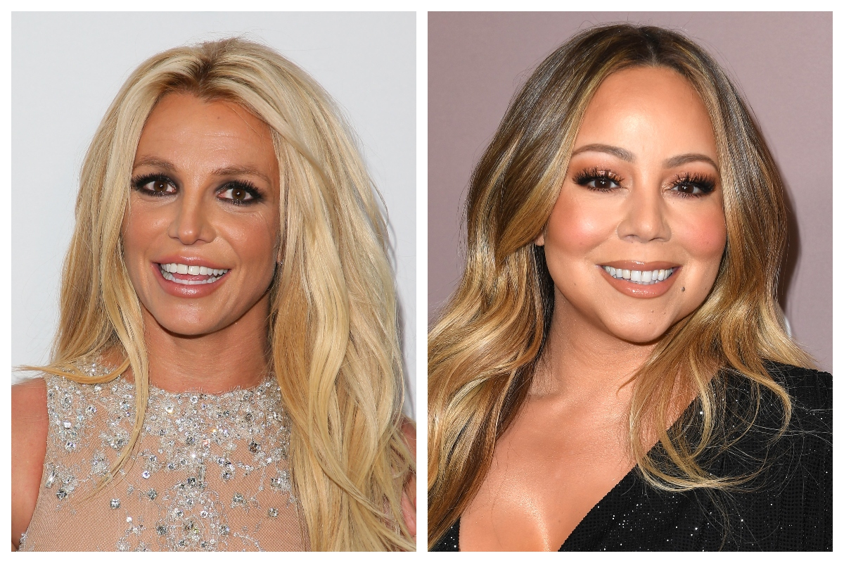 Composite image of Britney Spears and Mariah Carey