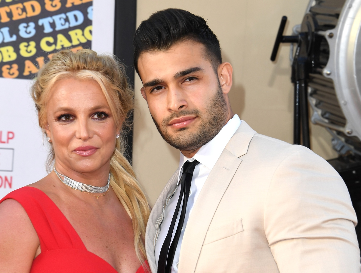 Britney Spears and Sam Asghari at the 'Once Upon A Time...In Hollywood' Los Angeles premiere