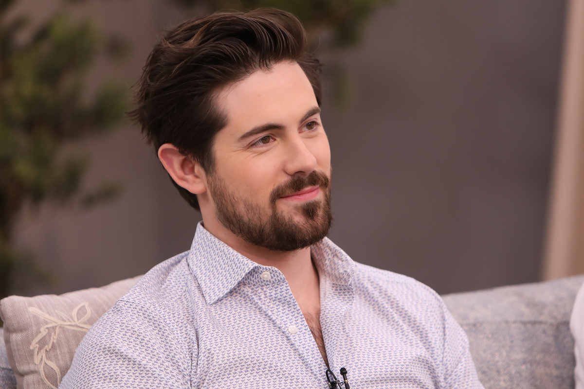Chris McNally during an appearance on Hallmark's 'Home and Family'