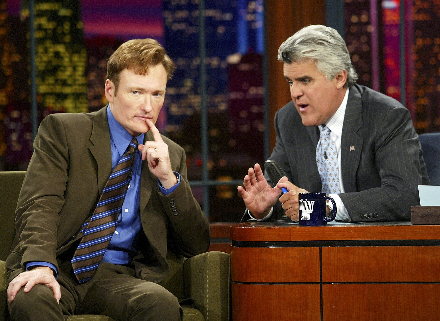 Conan O'Brien interviewed by Jay Leno on 'The Tonight Show with Jay Leno'