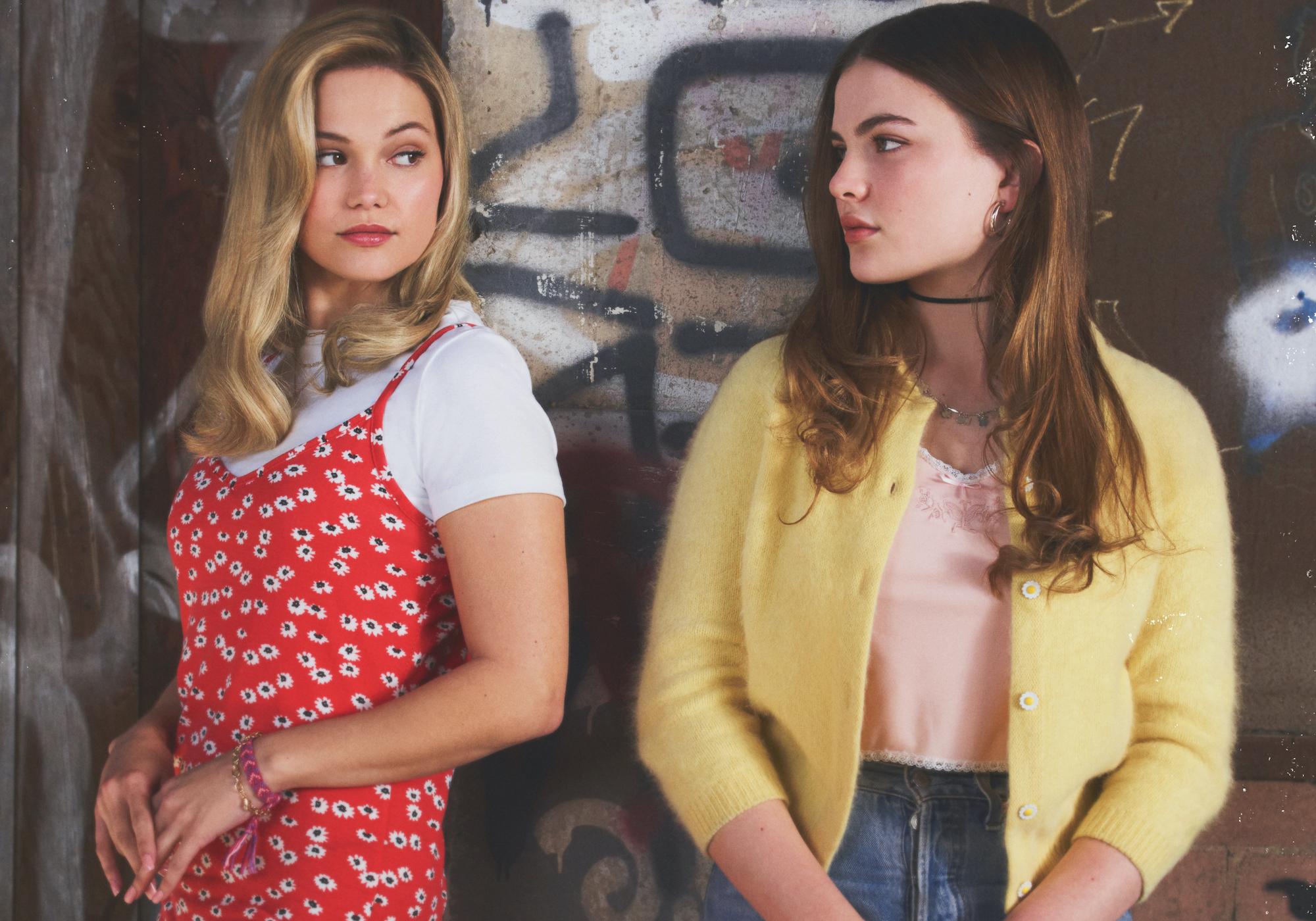 Olivia Holt as Kate Wallis and Chiara Aurelia as Jeanette Turner in a 'CRUEL SUMMER' promo shoot