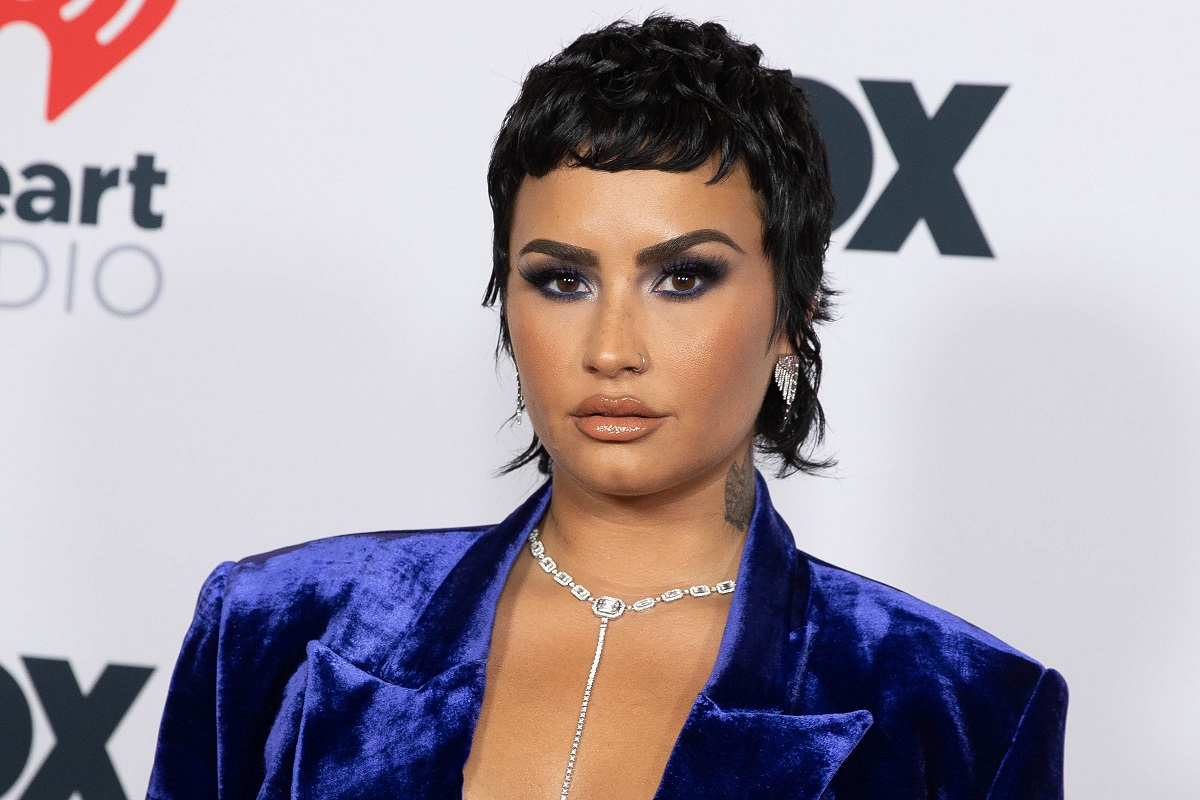 Demi Lovato at the 2021 iHeartRadio Music Awards on May 27, 2021, in Los Angeles, California.