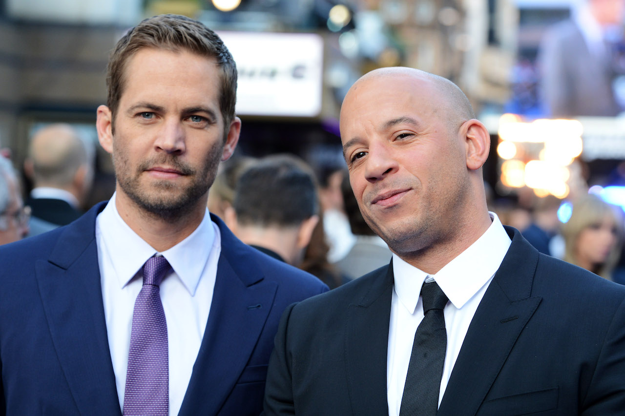 Paul Walker and Vin Diesel attend the world premiere of 'Fast And Furious 6'