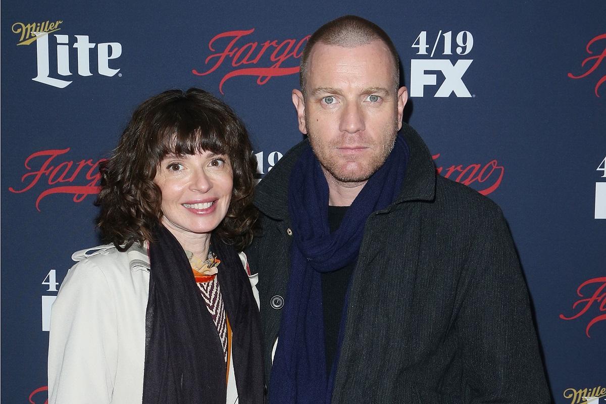 Eve Mavrakis and Ewan McGregor (R) attend FX's 2017 Upfront on April 6, 2017, in New York City.